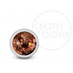 Copper Big Hex Glitter