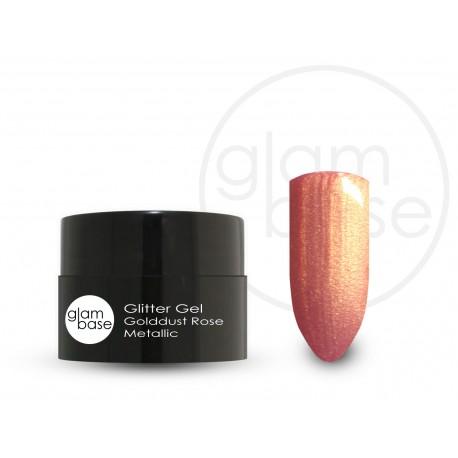 Glitter Gel Golddust Rose Metallic -5ml-