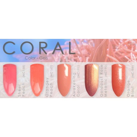 "Gel Set ""Coral-Tones"""