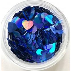 Herz Pailetten Blue