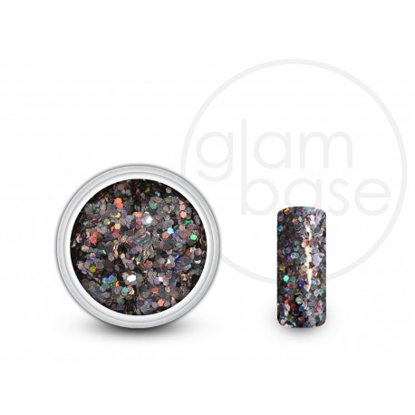 Big Glitter Galaxy Black Holographic