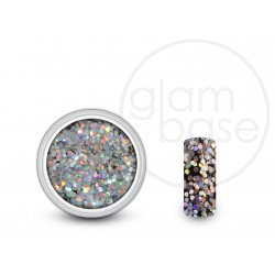 Big Glitter Star Shower Silver Holographic