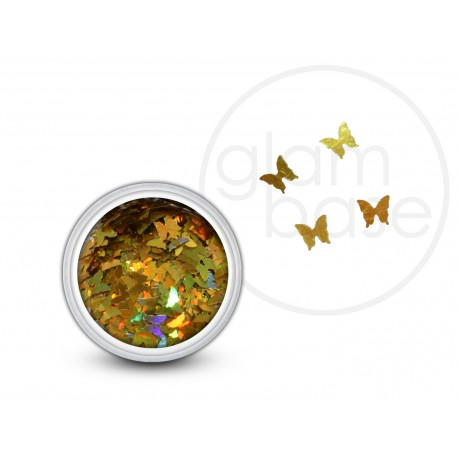 Butterfly Pailette Holographic Gold