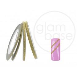 Nailart Pinstripes Glitter Gold 1mm